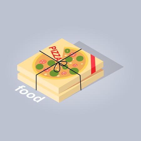 delivered: Delivered Pizza from Online Food Store Web banner Illustration