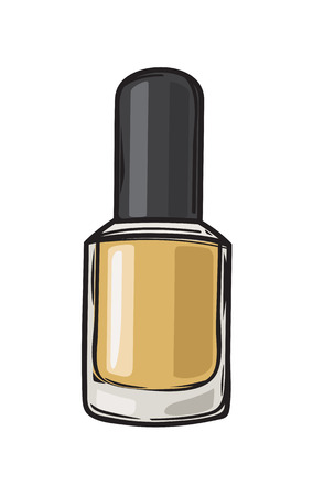 Fashioable Gold Nail Varnish Isolated Illustration Ilustrace