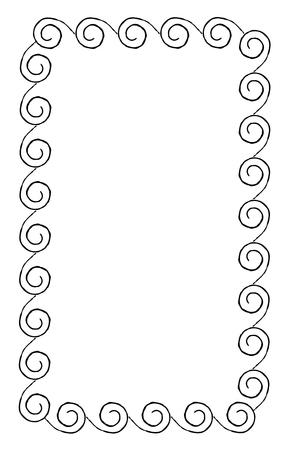 湾曲した Swirles 長方形形状のシンプルなフレーム
