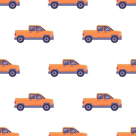 Transport Isolated Classic Pickup Seamless Pattern
