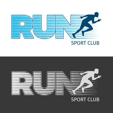 Run Sport Club. Two Pictures with Running Man