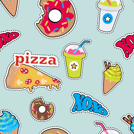 Pizza, Donut, Cóctel, Smoothie, Hielo Ceam Xoxo Foto de archivo - 85316758