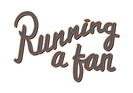 Running a Fan. Running Marathon Badge. Lifestyle. Banco de Imagens - 85316926