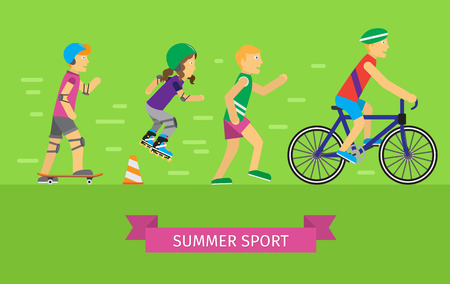 Summer Sport Vector Concept in Flat Design