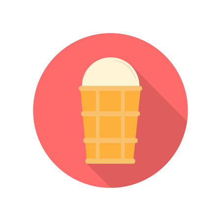 Ice Cream Vector Illustration in Flat Design