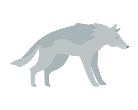 Wolf Vector Illustration in Flat Design
