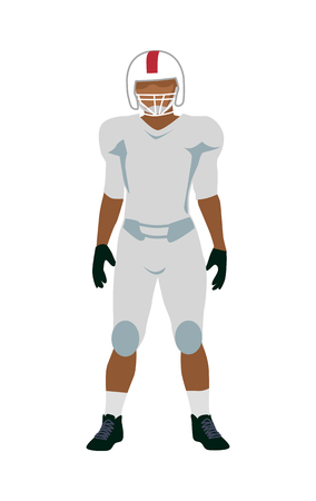 Giocatore di football americano in uniforme nera bianca Archivio Fotografico - 85353861