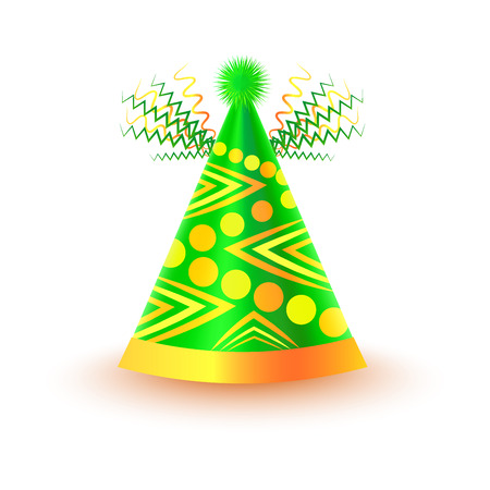 dressing up party: Bright Festive Cap with Circles and Triangles Illustration