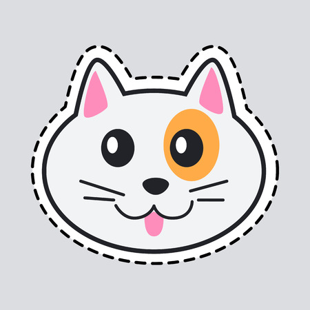Muzzle of Cat. Cut it out. Icon of Isolated Animal Фото со стока - 85353239