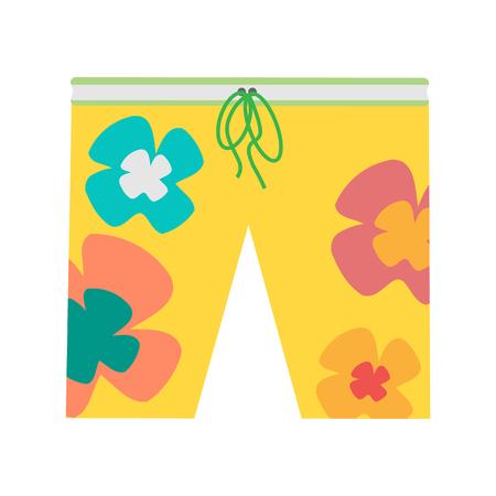 Beach Shorts Vector Illustration in Flat Design Illustration