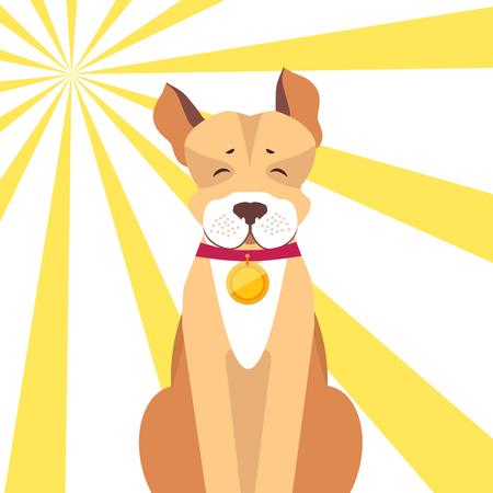Basenji Dog with Closed Eyes