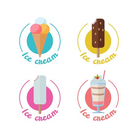 Ice Cream Set Isolated Stock Vector - 86476488