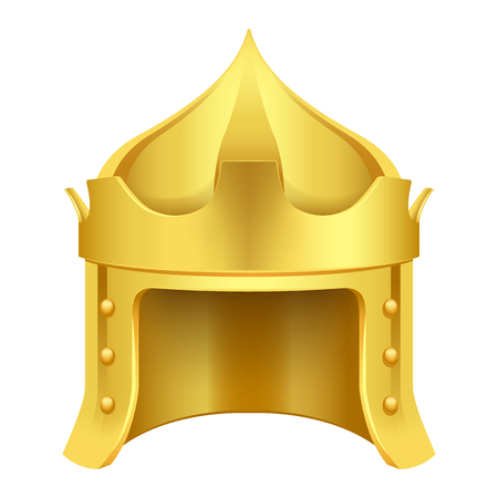 Cartoon Gold King Crown Isolated Illustration