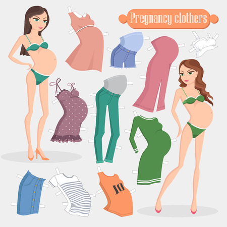Pregnancy Clothes with two women