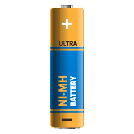 Ilustração poderosa e compacta da bateria NI-MH Foto de archivo - 86476499
