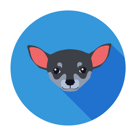 Small Muzzle of Chihuahua Dog Cartoon Drawing Illustration