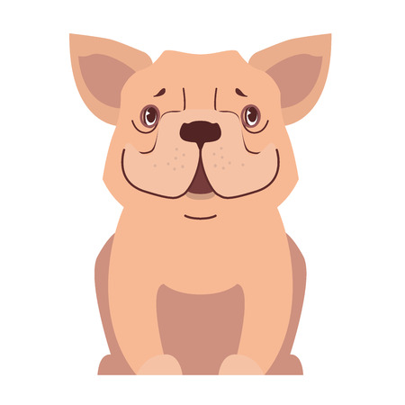 귀여운 작은 개 만화 플랫 벡터 아이콘 스톡 콘텐츠 - 86476509