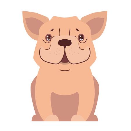 Cute small dog cartoon flat vector icon Stock fotó - 86476509