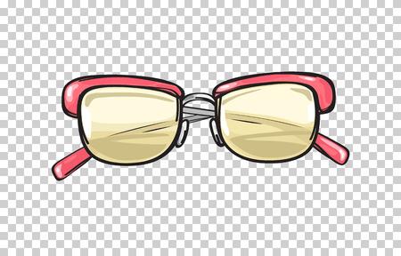 산호 프레임 일러스트와 함께 유행 안경