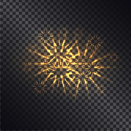 Glowing Fiery Sparks vector