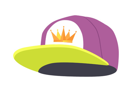 Male Colorful Rap Cap Isolated Illustration