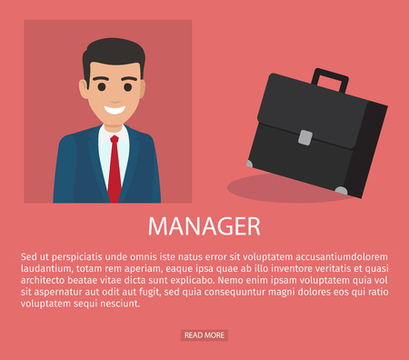 Job Application Form of a manager 向量圖像