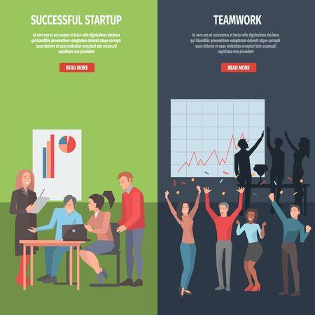 Teamwork en succesvolle opstartinformatiepagina