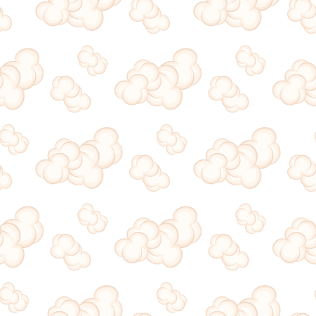 Seamless Pattern with Pink Clouds Vector Ilustração
