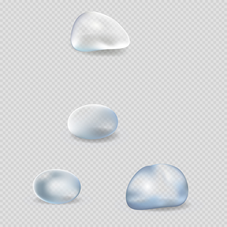 Realistic Water Drops Isolated Illustrations Set