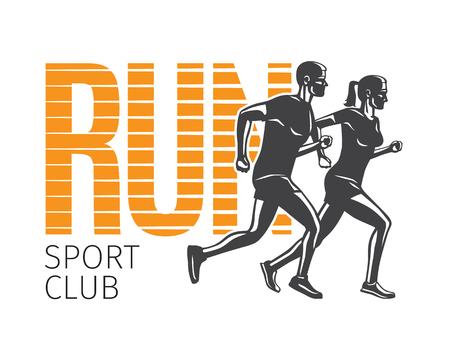 Run sportclub symboolsjabloon Stock Illustratie