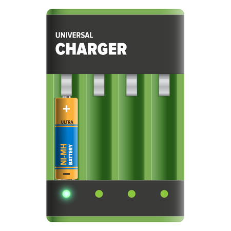 Powerful Universal Charger Isolated Illustration