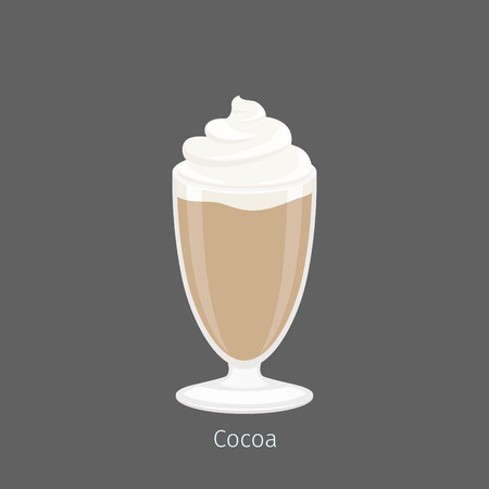Delicious Hot Cocoa or Drinking Chocolate in Glass