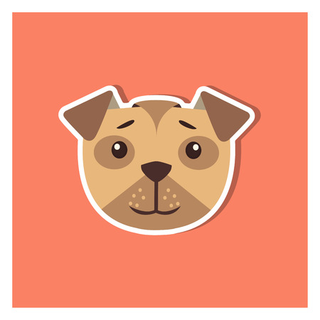 Head of boxer dog cartoon icon