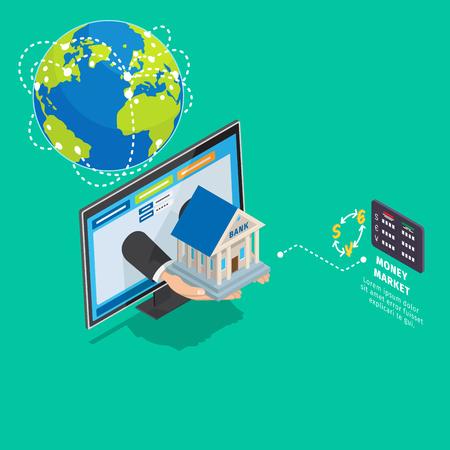 グローバル オンライン ・ バンキング サービス等尺性概念