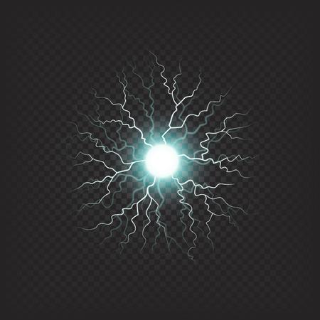 まばゆいばかりの雷の現実的な効果でボール