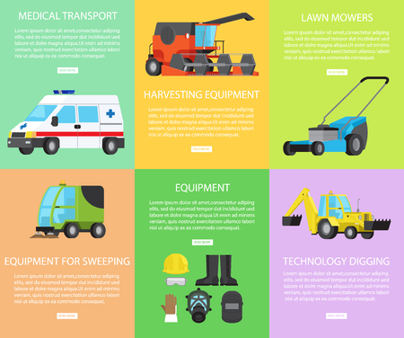 Set of Worker Equipment, Engineering and Transport