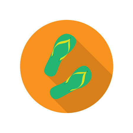 flip flops: Green Flip Flops Isolated on White Background. Illustration