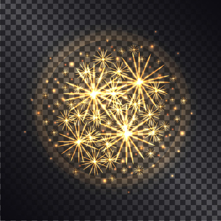 Light Effects of Burning Sparklers on Transparent