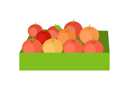 peasant: Red Apples in a Box