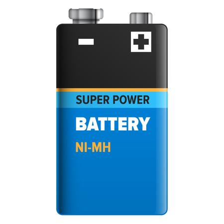 極度の力のバッテリーは、白で隔離。ベクトル