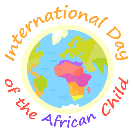 International Day of African Child Holiday Poster Ilustração