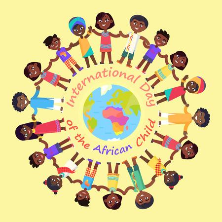 アフリカの子供の図の国際的な日