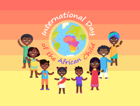 International day of African Child Commercial Ilustração