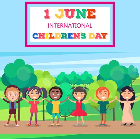 1 June International Childrens Day Poster of Kids