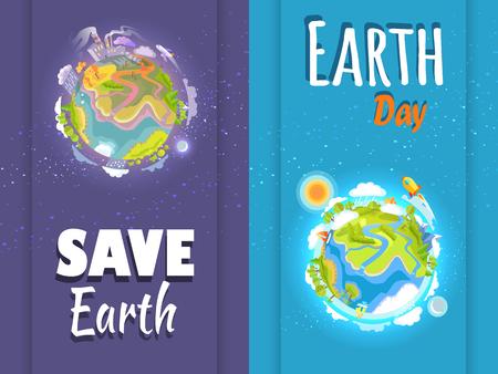 국제 저장 지구의 날 진화 포스터 세트