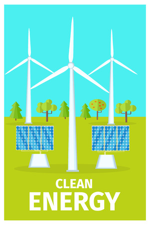 Promotional Poster Dedicated to Clean Energy Use