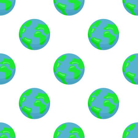 지구 행성과 원활한 패턴 일러스트