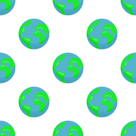 Seamless pattern with Earth planet Çizim
