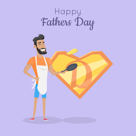 Happy Fathers Day Poster. Daddy Great Cooker Ilustração