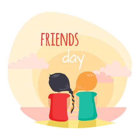 大好きな信頼できる友人との友情楽しい気晴らし
